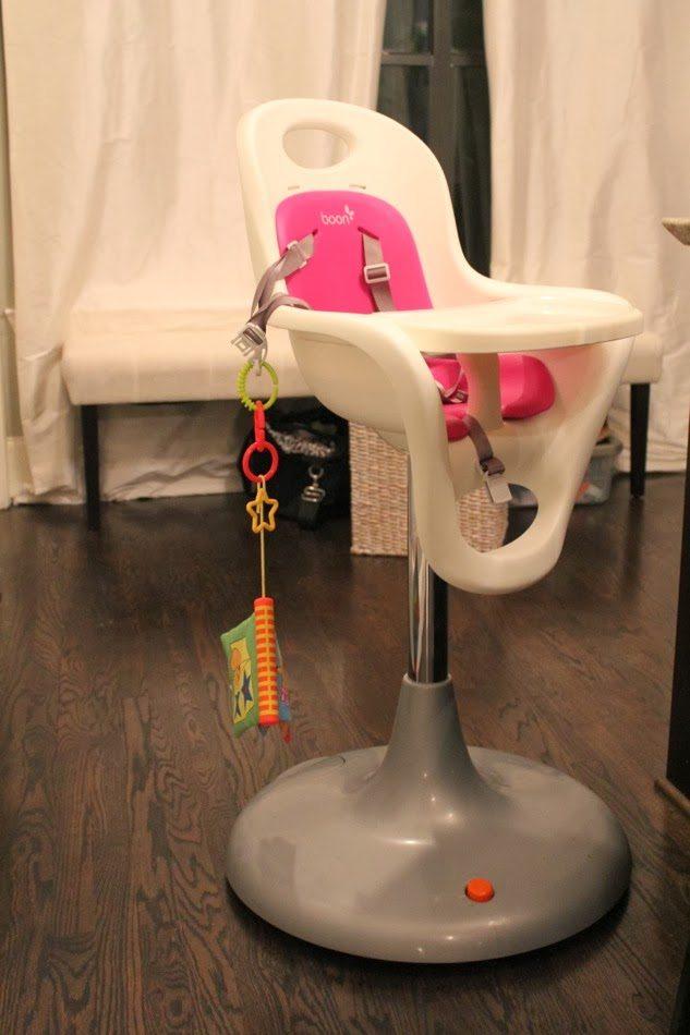 boon flair high chair pink 2