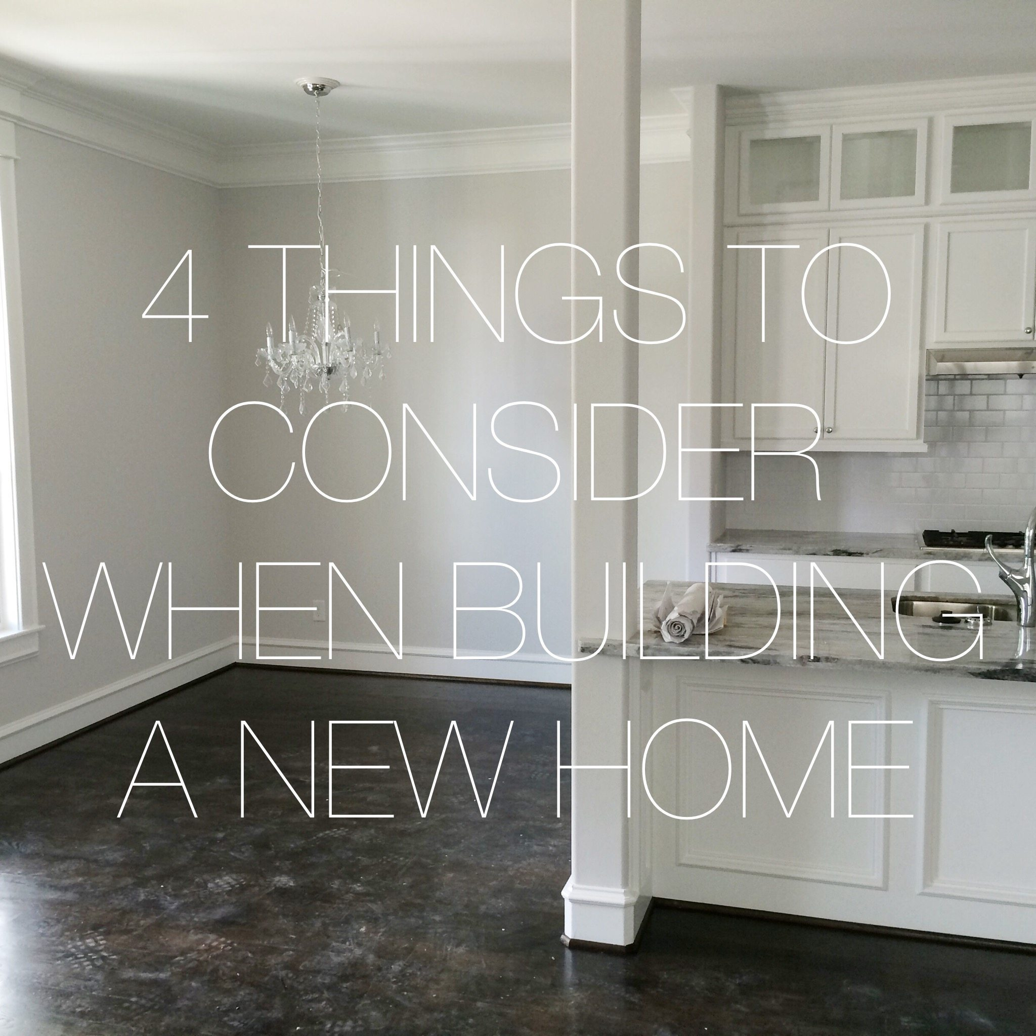 4 tips when building a new home