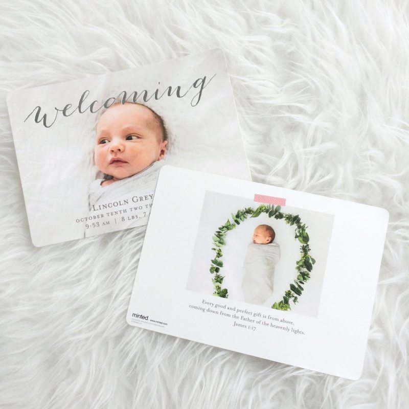 Lincoln's Birth Announcements with Minted